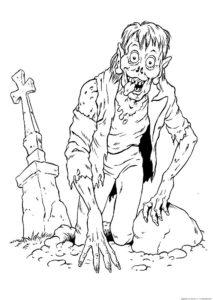 Зомби картинки раскраски (1)