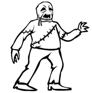Зомби картинки раскраски (10)
