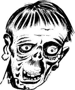 Зомби картинки раскраски (12)