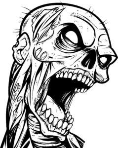 Зомби картинки раскраски (14)