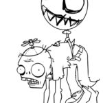 Зомби картинки раскраски (17)