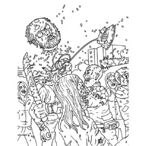 Зомби картинки раскраски (2)