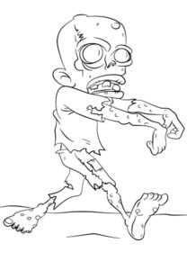 Зомби картинки раскраски (30)