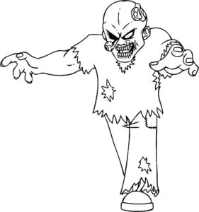 Зомби картинки раскраски (32)
