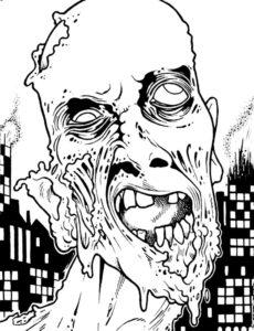 Зомби картинки раскраски (33)