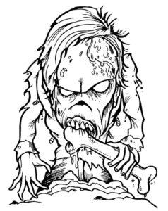 Зомби картинки раскраски (36)