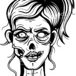 Зомби картинки раскраски (4)