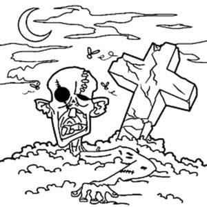 Зомби картинки раскраски (40)