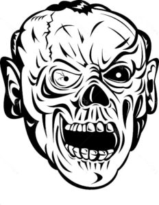 Зомби картинки раскраски (41)