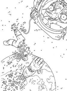 Зомби картинки раскраски (8)