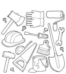 Инструменты картинки раскраски (13)
