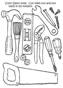 Инструменты картинки раскраски (14)