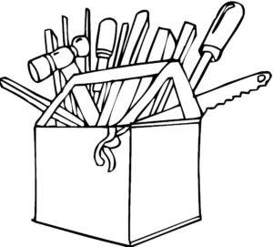Инструменты картинки раскраски (15)