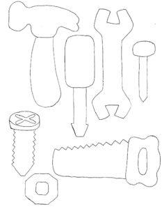 Инструменты картинки раскраски (19)