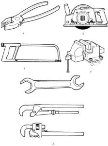 Инструменты картинки раскраски (2)