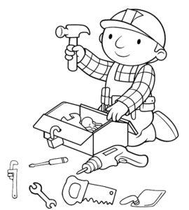 Инструменты картинки раскраски (20)