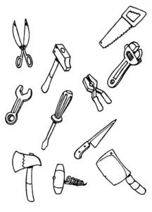 Инструменты картинки раскраски (6)