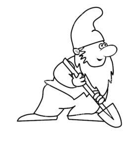 Инструменты лопата картинки раскраски (14)