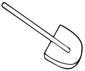 Инструменты лопата картинки раскраски (5)