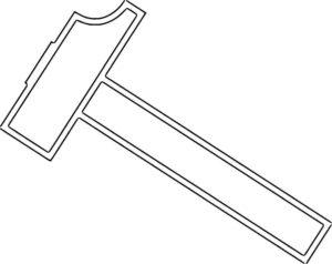 Инструменты молоток картинки раскраски (16)