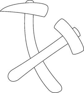 Инструменты молоток картинки раскраски (18)