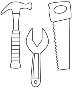 Инструменты молоток картинки раскраски (20)