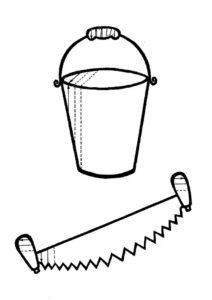 Инструменты пила картинки раскраски (10)