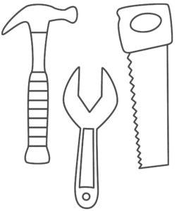 Инструменты пила картинки раскраски (9)