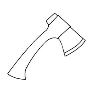 Инструменты топор картинки раскраски (11)