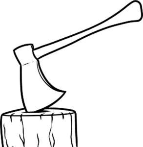 Инструменты топор картинки раскраски (21)