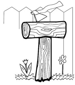 Инструменты топор картинки раскраски (8)