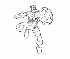 Капитан америка картинки раскраски (1)