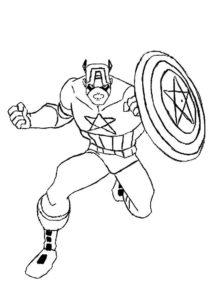 Капитан америка картинки раскраски (10)