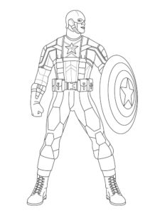 Капитан америка картинки раскраски (11)