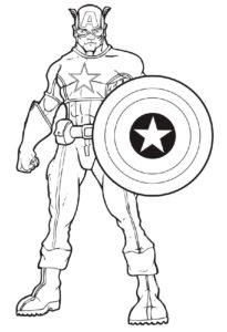 Капитан америка картинки раскраски (13)