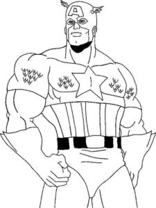 Капитан америка картинки раскраски (14)