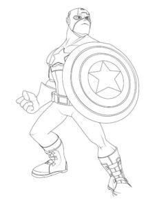 Капитан америка картинки раскраски (15)