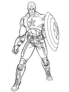 Капитан америка картинки раскраски (17)