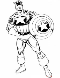 Капитан америка картинки раскраски (2)
