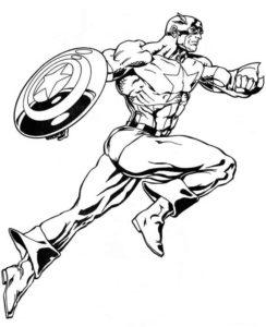 Капитан америка картинки раскраски (21)