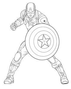 Капитан америка картинки раскраски (23)