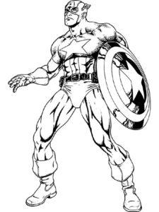 Капитан америка картинки раскраски (3)