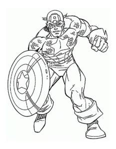 Капитан америка картинки раскраски (4)