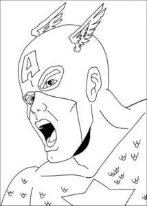 Капитан америка картинки раскраски (5)