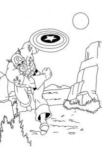 Капитан америка картинки раскраски (6)