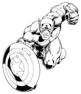 Капитан америка картинки раскраски (7)