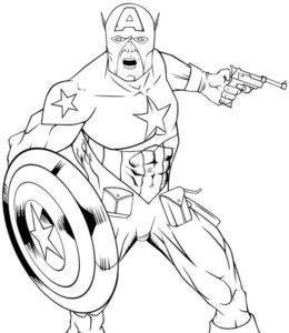 Капитан америка картинки раскраски (8)