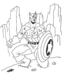 Капитан америка картинки раскраски (9)