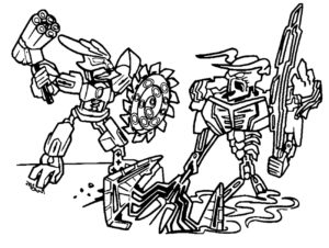 Лего бионикл картинки раскраски (11)