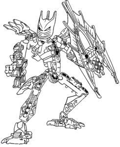 Лего бионикл картинки раскраски (15)